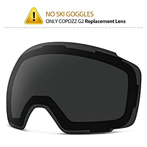 COPOZZ Ski Goggles, G2 Magnetic Snowboard Snow Goggles 2 Seconds Quick Change Lens, Imported Double Layer Anti Fog Lens UV400 Over Glasses OTG Snowmobile Goggles