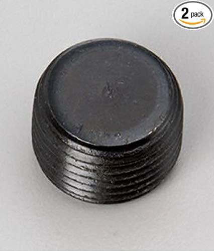3//4 NPT NPTF Pipe Thread Allen Head Plug Black Steel 2 Units
