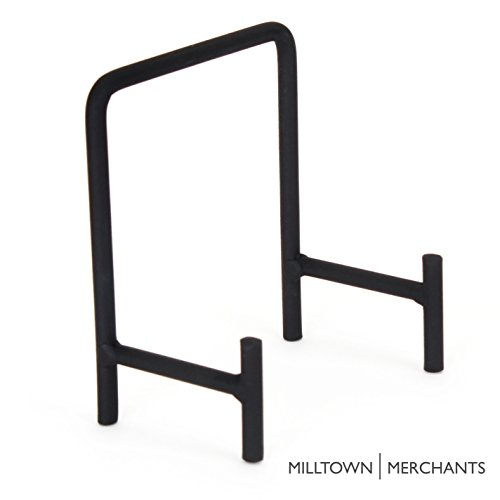 Milltown Merchants 1 Small Metal Display Stand - Great for Displaying Small Plates, Dishes, Plaques, and Art Creations (1-pack, Small Modern (Dish Stand)