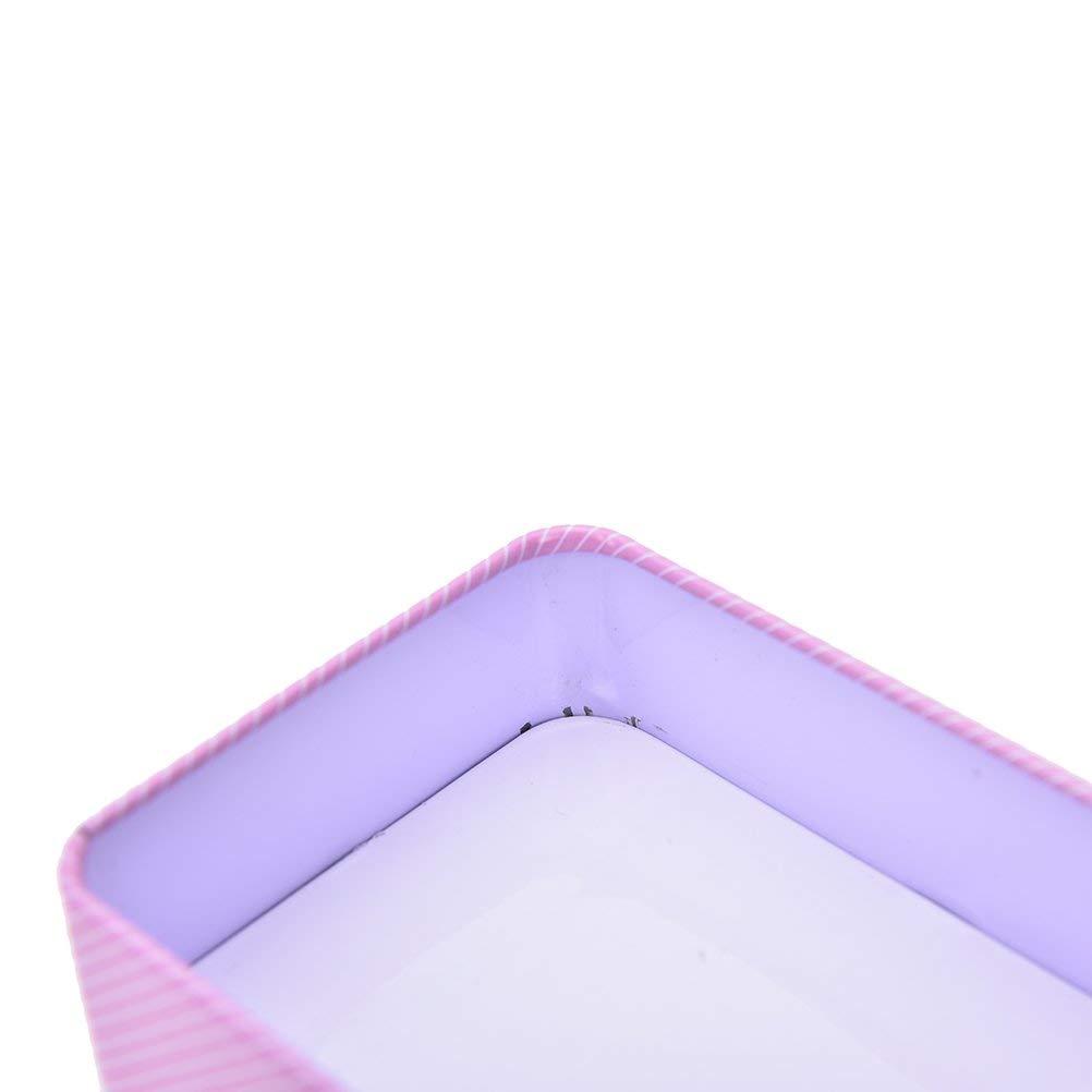 2 Cajas de joyer/ía Luckyrainbow contenedor de Metal peque/ño Rectangular con Bonito dise/ño de Caja de Almacenamiento Caja de Almacenamiento