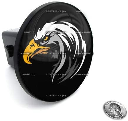 Billion/_Store 2 Tow Hitch Receiver Plug Cover Insert for SUVs /& Trucks Bald Eagle Cool Tuning