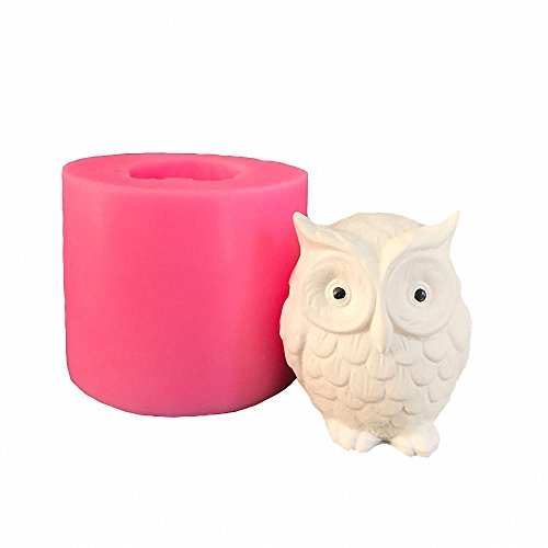 3D Owl Candle Mold - MoldFun Owl Silicone Mould for Cake Decorating, Chocolate, Fondant, Candy, Mini Soap, Lotion Bar, Polymer Paper Fimo Clay