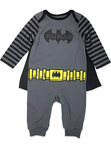 Black And Grey Batman Costume (Warner Bros. Batman Baby Boys' Costume Coverall with Cape, Grey/Black)