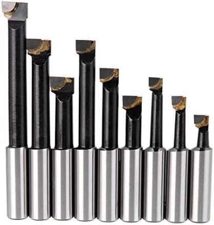 NO LOGO Nützlich 9Pcs Alloy Schaft Bohrstange Set Hartmetall Stäbe 12 mm Schaft-Bohrstangen for 2 Inch 50Mm Bohrkopf for Drehfräsen