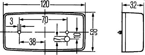HELLA 2PG 002 727-021 Positionsleuchte 12//24 V glasklar Anbau vorne links//rechts waagerecht//senkrecht C5W
