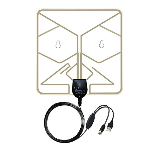 Check Out This TV Antenna, AcoodVen 50 Miles 1080P Transparent Digital HDTV Antenna, Thin, Light, So...