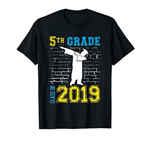 Dabbing 5th Grade Graduation Gift 2019 - Funny T-Shirt