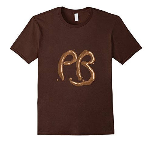 Mens PB Peanut Butter and Jelly Matching Halloween Costume TShirt Large Brown (Pb And Jelly Costumes)