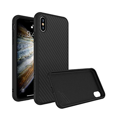 RhinoShield Case for iPhone Xs [SolidSuit] by Shock Absorbent Slim Design Protective Cover with Premium Matte Finish [3.5M / 11ft Drop Protection] - Carbon Fiber