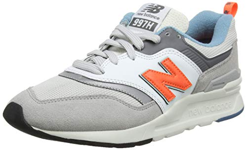 New Balance Men's 997H V1 Sneaker, RAIN Cloud/Dark Mango, 9 D US