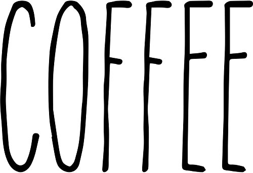 Rae Dunn Inspired Vinyl Decals For Dishware Variety of Words to Choose From! (coffee)