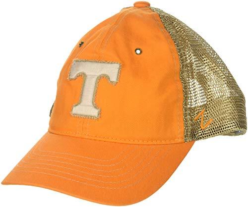 Zephyr NCAA Tennessee Volunteers Men's Tatter Relaxed Cap, Adjustable, Light Orange ()