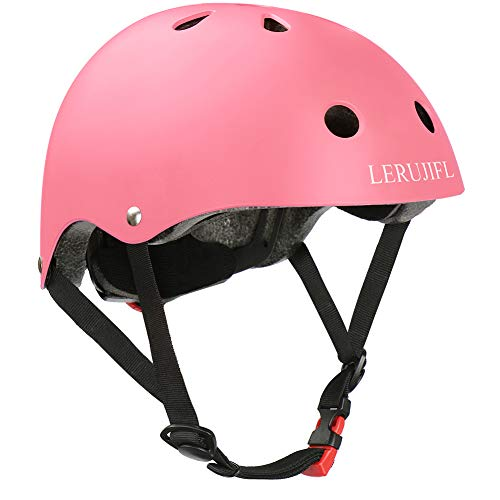 LERUJIFL Kids Helmet Adjustable from Toddler to Youth Size, Ages 3 to 8 - Multi-Sports Safety Skating Scooter Helmet - CSPC Certified for Safety