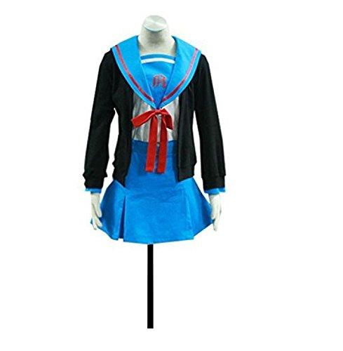 Smile Style Haruhi Suzumiya Cosplay Costume - Nagato Yuki School Uniform (Yuki Nagato Cosplay Costume)
