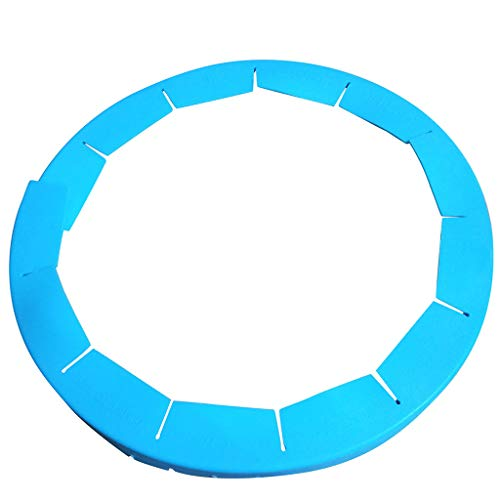 Orcbee  _Adjustable Silicone Pie Crust Shield Silicone Fit 8.5-11.5Inch Rimmed Dish Blue