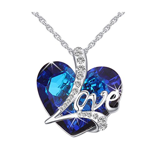 RARITYUS Fashion Austrian Swarovski Crystal Heart Pendant Necklace Valentine Anniversary Jewelry