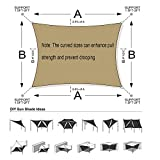 SUNLAX Sun Shade Sail, 10'x13' Sand Rectangle