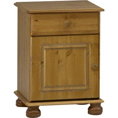Steens Furniture 4951 Richmond 1-Door 1-Drawer Bedside, Pine - Brown 10221834