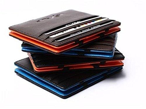 4b09c27e75 Vip Flap Portafoglio Porta Carte in Pelle Linea Double Edition  (NERO-VERDE): Amazon.it: Valigeria
