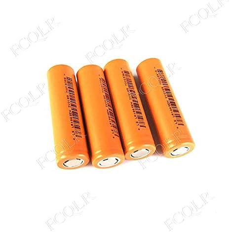 FCQLR Compatible para 4PCS 3.2V 18650 Rechargeable LiFePO4 batería ...