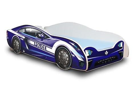 Best For Kids Autobett in zwei Farben mit Lattenrost und Matratze 80x180 cm Top Angebot! (Blau)