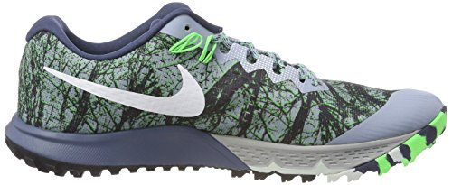 Nike Air Zoom Terre Kiger 4 Chaussures De Course Bleu (bleu Greywhitediffused Blue400)