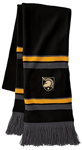 NCAA Army Black Knights Comeback Scarf, One Size, Black/Light Gold/Graphite