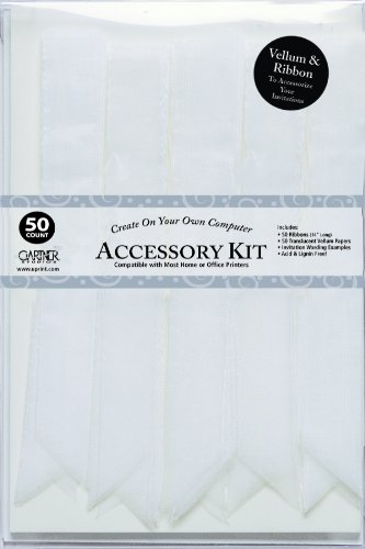 Gartner Studios Wedding Invitation Accessory Kit, White, 50-Count (61006) - Invitation Accessory Kit