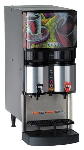 BUNN Ambient Liquid Coffee Dispenser w/ 2 Dispense Heads