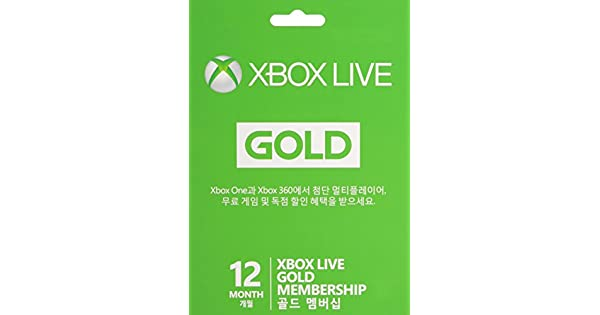 Amazon.com: Microsoft Xbox Live 12 Month Gold Card: Video Games