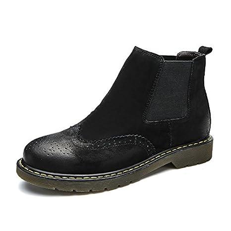 gli uomini sono calzature in cuoio stivali alti a tirare il carro piede martin maschio stivali di pelle, scarpe da uomo, ricreative all'aperto,black,42