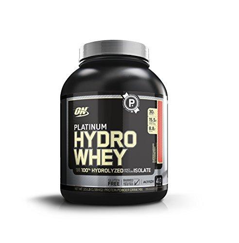 OPTIMUM NUTRITION Platinum Hydrowhey Protein Powder, 100% Hydrolyzed Whey Protein Isolate Powder, Flavor: Supercharged Strawberry, 3.5 Pounds]()