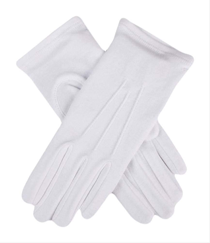 Vintage Style Gloves- Long, Wrist, Evening, Day, Leather, Lace Dents Womens Cotton Gloves - White $13.95 AT vintagedancer.com