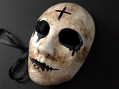 [The purge Cross mask Anarchy movie mask horror Killer purge masked men Halloween Costume Party] (Horror Mask)