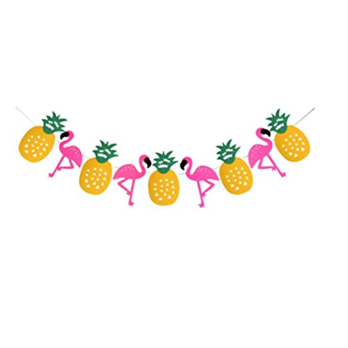 Sandalas Flamingo Pineapple Tropical Party Banner Decorations for Luau Hawaiian Summer Party Supplies