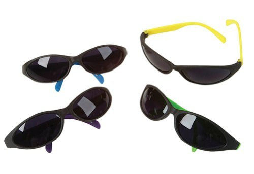 12 (Twelve) Pack of Kids Neon Beach Birthday Party Sunglasses Luaus - Overstock Sunglasses