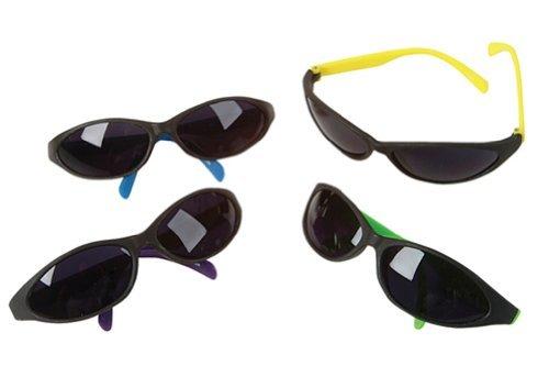 12 (Twelve) Pack of Kids Neon Beach Birthday Party Sunglasses Luaus - Sunglasses Overstock