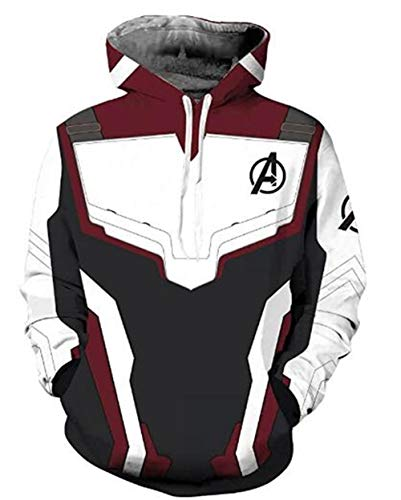 ROCK 4R 1, LLC Unisex Superhero Hoodie Adult Sweatshirt Jacket Halloween Cospaly Costumes (Mens-XX-Large, Pullover) ()
