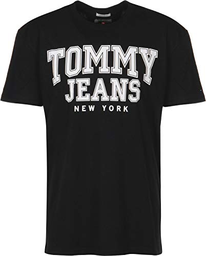 Tommy College shirt Jeans T Black Essential rzBHvq6rw