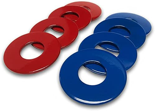"""4 White Powder Coated Replacement 2-1//2/"""" Washer Toss Pitching Game 4 Blue"""