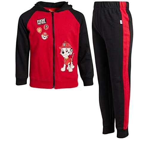 Nickelodeon Boys Paw Patrol 2-Piece Jogger Set Fleece Zip-up Hoodie and Jogger Pant