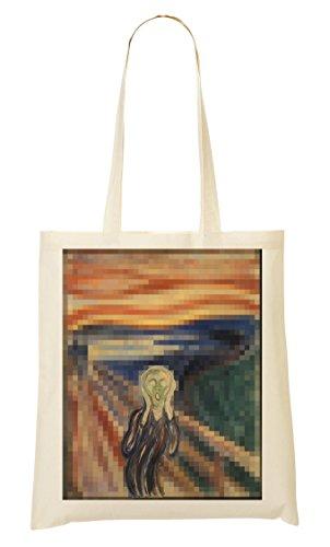 Edvard Munch The Scream Pixeled Bolso De Mano Bolsa De La Compra