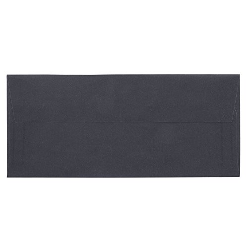 (JAM PAPER #10 Business Translucent Vellum Envelopes - 4 1/8 x 9 1/2 - Charcoal Grey - 25/Pack)