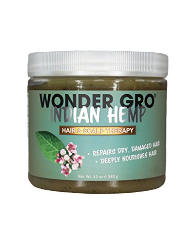 Wonder Gro Indian Hemp, 12 fl oz - Hair Regrowth Styling Treatment - Deeply Nourishes & Repairs Damages