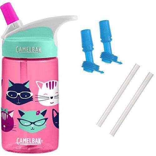 CamelBak Eddy Kids Water Bottle, Meow, 0.4 L with Bottle Acc
