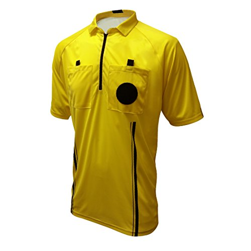 Winners Sportswear New USSF Pro Soccer Referee Jersey (2018 USSF Yellow, Adult Medium) ()