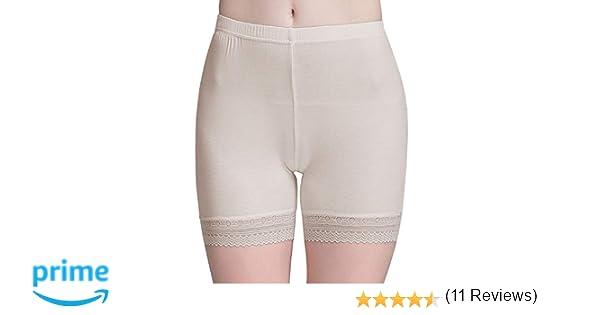 7747c63a9f82 Vinconie Bragas Pantalon Mujer Boxer Encaje Short Leggings Cortos Bajo Falda