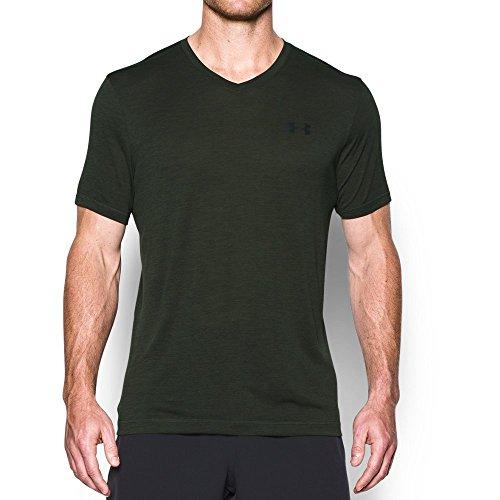 - Under Armour Men's Tech V-Neck T-Shirt, Artillery Green , XX-Large