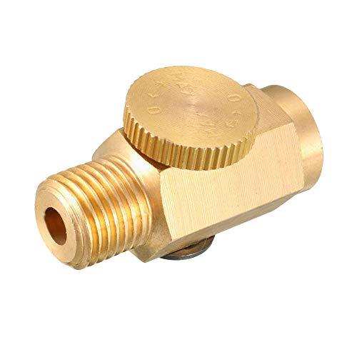 Beduan Pneumatic 1/4' NPT Inline Air Pressure Valve Regulator Compressed Solid Brass