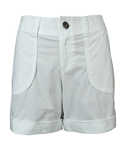Poplin Cuffed Shorts (INC Womens Poplin Cuffed Casual Shorts White 2)